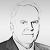 Portrait dessiné de Frederick Wallace Smith, fondateur et président de Fedex.