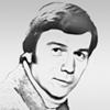 Portrait dessiné en noir et blanc de Lloyd Dobyns, journaliste et correspondant NBC