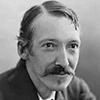Portrait photo en noir et blanc de Robert Louis Stevenson, romancier