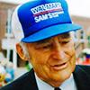 Photo portrait de Sam Walton, fondateur de la chaîne de centres commerciaux Walmart